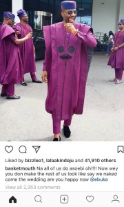 """You made us look naked"" – Basketmouth reacts to Ebuka's outfit"