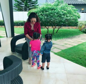 Beautiful Ghanaian Actress, Nadia Buari Shares Rare Photos Of Herself & Twin Daughters (Photos)