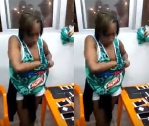 Lady steals over 30 phones, hides them in her undies (Video)