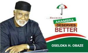 PDP's candidate, Oseloka Obaze Rejects Anambra Election Results