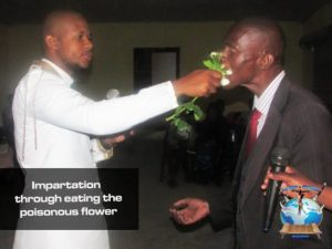Controversial South African Pastor, Penuel Mnguni Feeds Worshipers Cockroach And Poisonous Flowers (Photos)