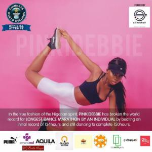 Pinki Debbie breaks Guinness World Record for longest dance marathon by individual! She danced for over 124 hours and she's still dancing