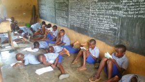 See photos of primary school students sitting on the floor to write exams in Akwa Ibom (Photos)