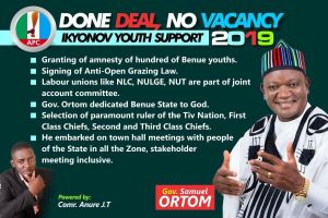 Check out this campaign poster and achievements of Benue State Governor, Ortom – (Photo)