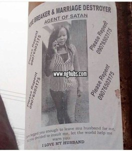 Posters Warning A Husband Snatcher Flood The Streets Of Enugu (Photo)