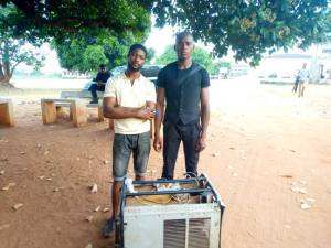 Two Nigeria men develop generator that works without fuel (Photo & Video)