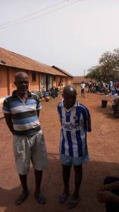 See the 99-year-old man in Enugu prison with his son (Photo & Video)