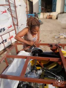 Meet the lady that assembles Keke Napep In Anambra State (Photos)