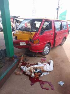 Bus Crushes A Man To Death In Edo State (Graphic Photos)