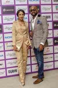 Adesua & Banky Wellington Make First Red Carpet Appearance After #BAAD2017 (Photo)