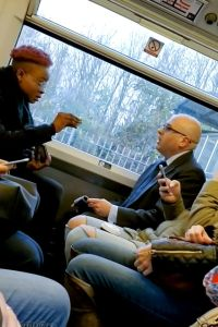 Nigerian Lady & A White Politician Abusing Each Other On A Train In London (Video)