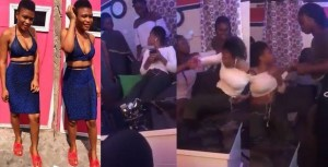 Angry girlfriend and her friends beat up a young lady for visiting her boyfriend's house (Video)