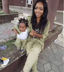 Check out this cute baby and mother in NYSC uniform (Photos)