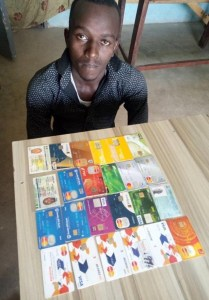 Police arrests Buhari for defrauding unsuspecting citizens (Photo & Video)