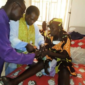 50 Years After Marriage, Man Weds His Wife Battling With Bosom Cancer On Her Hospital Bed In Benue (Photo)