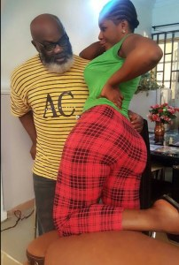 Check out Destiny Etiko and Harry B Anyanwu pose in a movie set (Photo)