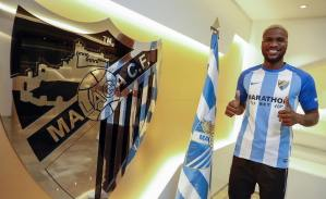 Super Eagles Striker, Ideye Brown Signs With Spanish Side, Malaga FC (Photos)