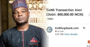 Nigerian Man Refunds N800k Paid To His GTBank Account By Mistake (Photos)