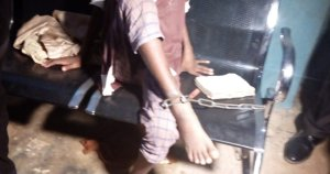 Police Rescues Boy Chained In Ogun By His Grandmother & Mother For Months (Photo)