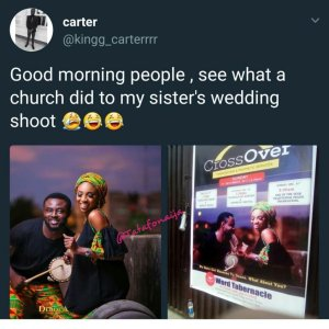 See what a church did to a couple's pre-wedding photo