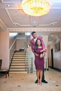 Check out this beautiful pre-wedding photos of a Nigerian bride and her very tall groom (Photos)