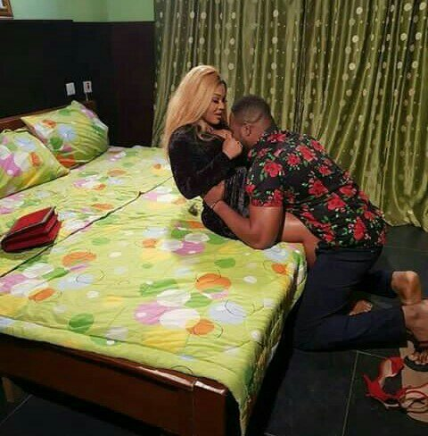 See Mercy Aigbe in a sexual position with an actor, Nigerians react (Photos)