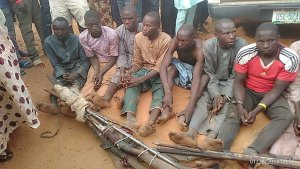 See the armed Fulani herdsmen caught in Delta [PHOTOS]