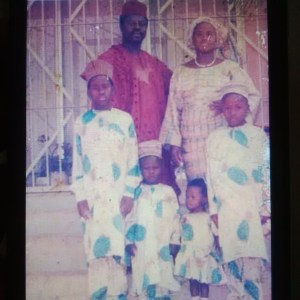 Check out Desmond Elliot's Throw Back Photo Him and His Family