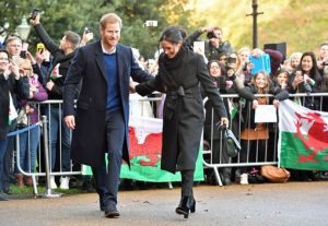 Massive crowd welcomes Prince Harry and Meghan Markle to Cardiff (Photos)
