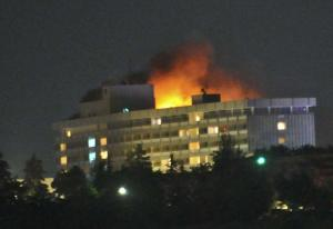 Gunmen launch attack on Intercontinental Hotel in Kabul, Afghanistan
