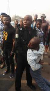 Okada Rider Collapses After Been Kicked At His Back By Policeman In Anambra (Photos)