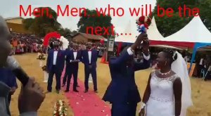 , See this hilarious video of men running away from bouquet at a wedding (Photo & Video), Effiezy - Top Nigerian News & Entertainment Website
