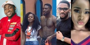 #BBNaija: Davido Reacts to Tobi's obsession with Cee-C