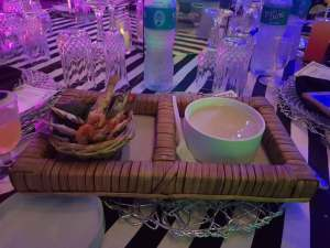 Check out this Garri And Fried Fish Served At A Wedding In Lagos (Photos)