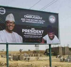 , PDP senator welcomes Buhari with a billboard in Nasarawa State (Photo), Effiezy - Top Nigerian News & Entertainment Website