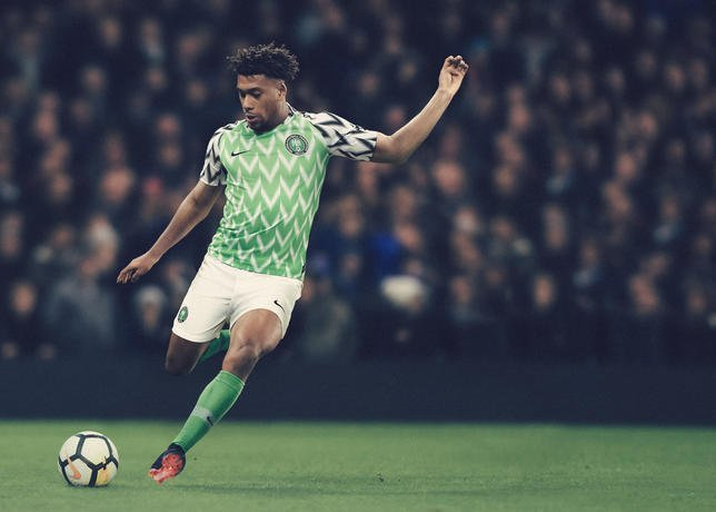 87fbb14a45b Wizkid And Iwobi Model The New Super Eagles Jersey (Photos)