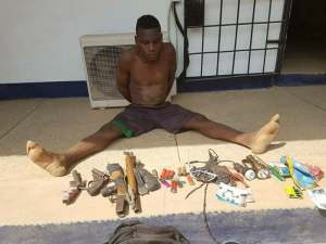 , Arms Dealer Arrested With Charms & Weapons In Nasarawa (Photos), Effiezy - Top Nigerian News & Entertainment Website