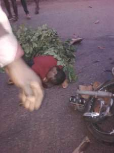 Dangote Trailer Crushes Lady Dead On Enugu-Port Harcourt Expressway (Graphic Photos)