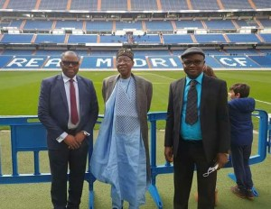 See what Lai Mohammed wore to Real Madrid stadium (Photos)