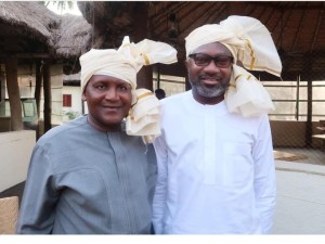 Dangote And Otedola In India With Their Head Scarf (Photo)