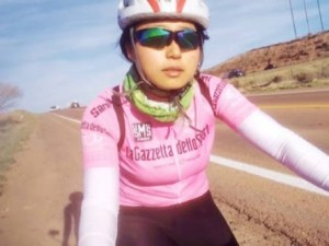 Chinese Girl Rides Bicycle From Morocco To Lagos, Narrates Her Ordeals