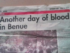 , Check Out This 2011 Sun Newspaper Reporting Fulani Herdsmen Killings In Benue (Photo), Effiezy - Top Nigerian News & Entertainment Website