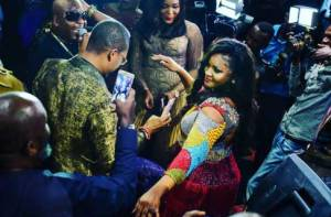 Omotola Ekeinde confesses her love for Sir Shina Peters (Photos)