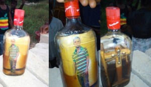 Photo Of A Man In A Bottle Found In Ghana (Photos)