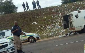Watch as Armed Robbers steal from a bullion van in broad daylight (Video)