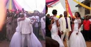 , Man Weds Two Women On The Same Day, Kisses Them At The Same Time (Photos), Effiezy - Top Nigerian News & Entertainment Website
