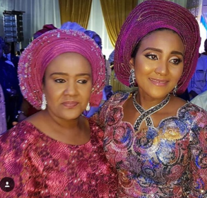 Aliko Dangote's Daughter, Fatima Takes A Photo With Her Mum At A Wedding Dinner (Photos)