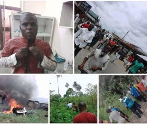 Vigilante Group And Thieves Clash In Yenagoa, Properties Destroyed (Photos)