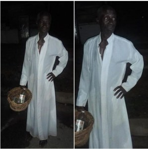 Prophet Caught Bathing Man Inside A Native Basket At A Junction In Ekiti. (Photos)