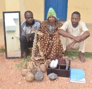 See The Ritualists Arrested By Osun Police & Charms Recovered (Photos)